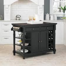Contemporary Kitchen Carts And Islands by Large Kitchen Cart Sears Com Home Styles Create A Black Finish
