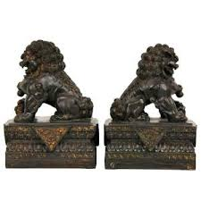 foo dog bookends furniture 9 in foo dog decorative statues set of 2 sta