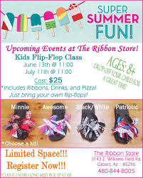 kids summer craft camp the ribbon store