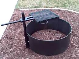 Firepit Grill Cfire Grills Pits Higleymetals Pit With Adujustable