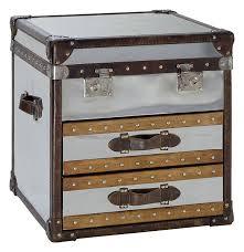 steamer trunk side table andrew martin livingstone steamer trunk 24 w x 24 d x 24 h 950