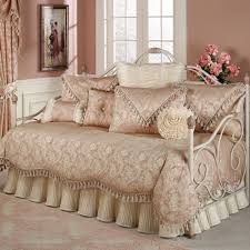 bedroom luxury daybed bedding with beige bed skirt and elegant