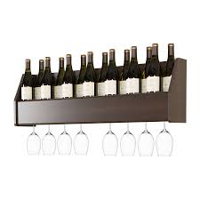 decor chic wrought iron oenophilia wall wine rack ledge 9 bottle
