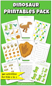 dinosaur printables pack with more than 70 dinosaur activities for