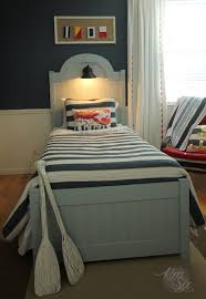 Bed Headboards And Footboards Diy Headboard And Footboard With Beadboard And Nautical Light