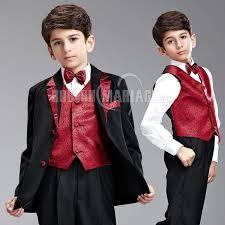 tenue mariage enfant costume mariage enfant pas cher broderie costume garçon mariage