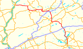 Pennsylvania Map by Pennsylvania Route 61 Wikipedia