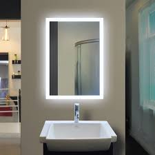 backlit bathroom mirror rectangle 40 x 24 in bathroom