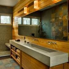 Trough Sink For Bathroom by Modern Trough Sink Instead Of Double Vanities Maybe Do Wall