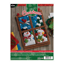 Home Decor Distributors Bucilla Seasonal Felt Home Decor Door Wall Hanging Kits