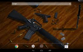 3d guns live wallpaper free android apps on google play
