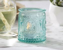 Mason Jar Tea Light Holder Vintage Blue Glass Tealight Holder Set Of 4