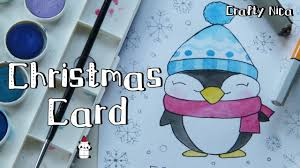 how to draw a kawaii penguin cute christmas cards diy holiday