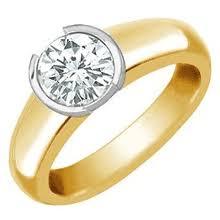 bezel engagement ring bezel set diamond rings jewelrycentral
