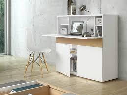 bureau secr aire bois bureau secrétaire en bois placage chêne et blanc mat