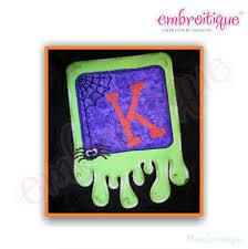 embroitique slime font frame applique