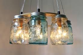 Pottery Barn Mason Jar Chandelier Ideas For Mason Jar Pendant Light 12114