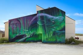 pangeaseed foundation sea walls project visits churchill canada mural by charlie johnston