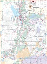 Map Of Counties In Utah by Large Detailed Tourist Map Of Utah With Cities And Towns