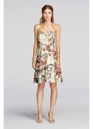 lace dress strapless printed lace dress david s bridal
