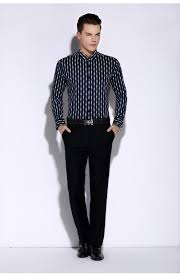 Boys Casual Dress Clothes Men Striped Shirt Long Sleeve Boys Famous Brand 100 Cotton Male