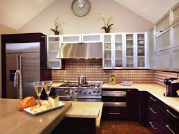 kitchen design styles pictures ideas tips from hgtv neutral and brown contemporary kitchen