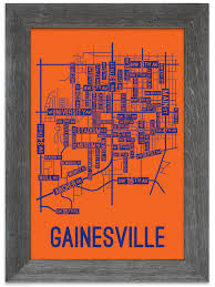 gainesville map gainesville florida map print posters