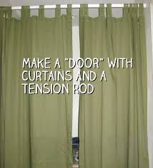 How To Make A Curtain Room Divider - make a door with curtains and a tension rod snappy living