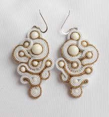 soutache earrings soutache earrings ancient rome with white agate soutache jewellery
