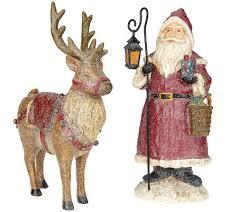 vintage santa and reindeer figurines by valerie page 1