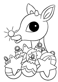 rudolph the nosed reindeer coloring pages ornaments