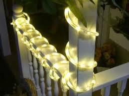 white warm white chasing led rope light kit