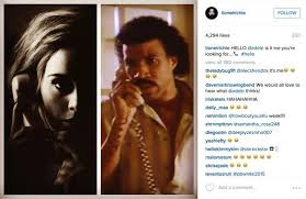 Lionel Richie Hello Meme - lionel richie responds to adele s song hello by posting meme on