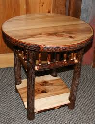 Log Side Table Hickory Log Side Table Fashioned Hickory Side Table