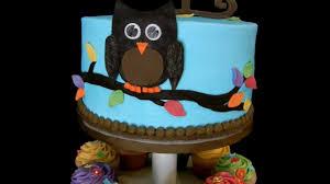 owl baby shower cake youtube