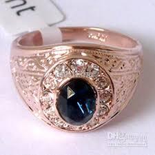 men s ring size 2018 sapphire amp white topaz 18k gp gold men s ring size