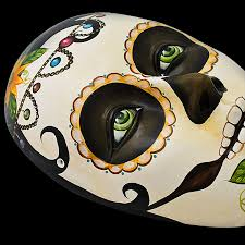 Day Of The Dead Masks Ceramic Figures Day Of The Dead Mask Fam21