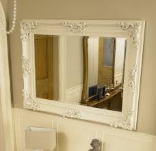 Bathroom Framed Mirrors by Large Ivory Ornate Framed Mirror Bathroom Kitchen Wall Free