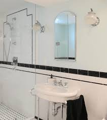 white glass and metal wall lamp minimalist frameless bathroom