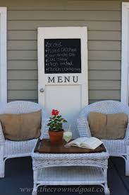 how to make a menu board from an old door