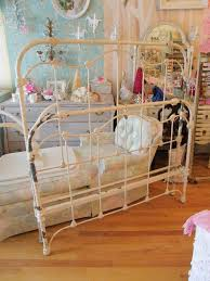 Antique White Metal Bed Frame Custom Order Antique Iron Shabby Chic Bed Frame Stripped And