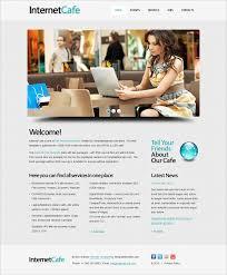internet cafe website template