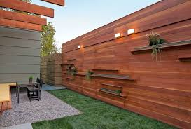 contemporary patio with raised beds u0026 privacy screen zillow digs