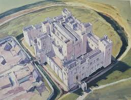 Historical Castles by Middleham Castle Reconstruction England 1480 Ad Historical