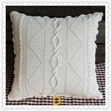 taie d oreiller pour canapé 2016 mode coton crochet fleurs taie d oreiller pour canapé décor