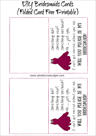 bridesmaid asking cards diy bridesmaids cards plus a free printable for flat and folded