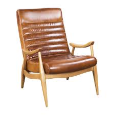 Omni Leather Furniture Hans Caramel Leather Chair By Dwell Studio Accent Chairs