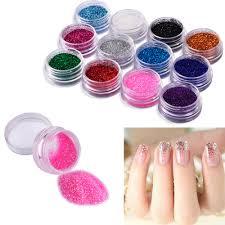 aliexpress com buy 12 color nail glitter powder decor nail art