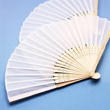 silk fans white silk fans palm and bamboo fans wedding favors