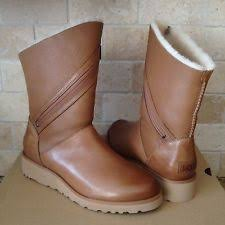 womens ugg leona boots ugg australia zip wedge winter boots for ebay